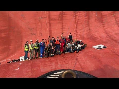 يورو نيوز:دون تعليق في أسبوع: إنقاذ طاقم سفينة شحن وإحياء ذكرى 11سبتمبر…