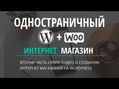 Одностраничный интернет магазин wordpress
