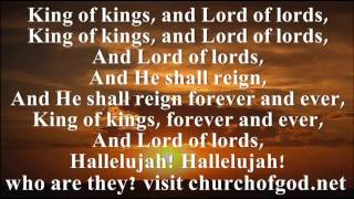 Hallelujah Chorus (lyrics) For the Lord God Omnipotent reigneth (free download)