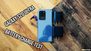 Galaxy S20 Ultra Battery Charge Speed TEST!!!