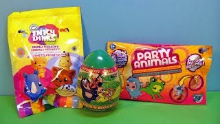 СЮРПРИЗЫ из ЧЕХИИ! Hroznovy Cukr, Party Animals, Inky Dinks Игрушки Kinder Surprise unboxing