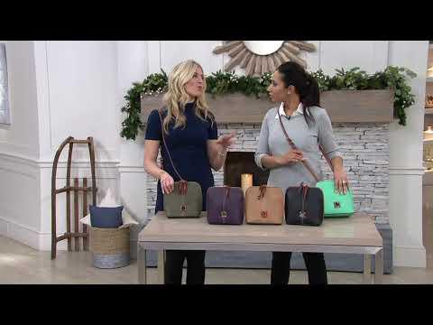 Dooney & Bourke Pebble Leather Crossbody Handbag -Trixie on QVC