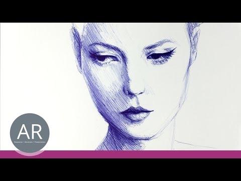 Gesichter zeichnen lernen. Eine wunderschöne Technik. Nicht nur für Mappenvorbereitung Kunst.