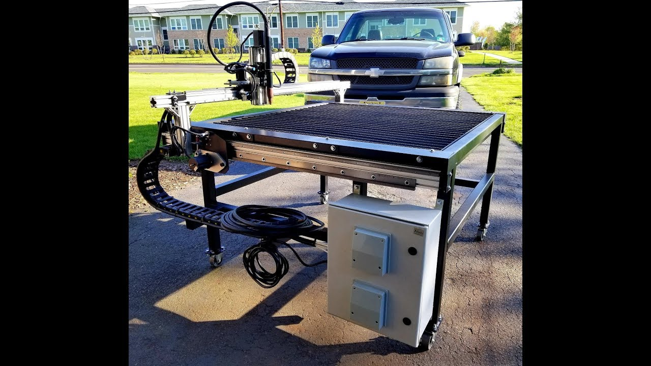Lighter Duty 4'x4' CNC Plasma: Complete - Full Overview & Test Cuts