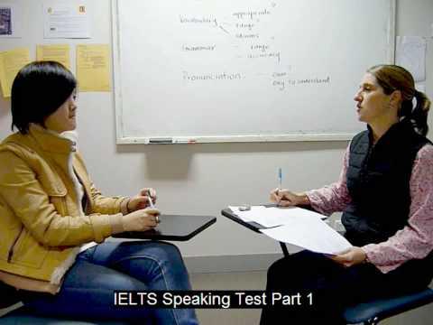 IELTS Speaking Test Part 1 @ Meridian Internartional School