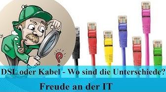 Internetanbieter vergleichen - DSL oder Kabelanschluss - Wo ist der Unterschied?