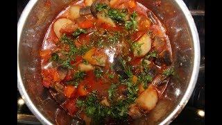 Настоящий Аджапсандали  (აჯაფსანდალი)  - вкуснейшее грузинское блюдо из баклажан