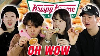 Koreans Try Krispy Kreme Donuts For the First Time [Korean Bros]