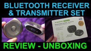 Avantree Saturn Pro Bluetooth Receiver Transmitter Set Review Demo Unboxing AptX Low Latency