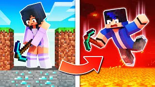 Minecraft BUT DIGGING Can KILL YOU!