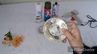عندك ملاعق وصحن قديم/اليك اروع فكرة لعمل ديكورات حائطية  wall decoration DIY spoon handle