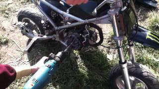 partie 3:pocket bike tournant a l'huile de friture