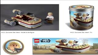Exclusive LEGO Star Wars Luke Skywalker's Chibi Landspeeder NYCC 2012