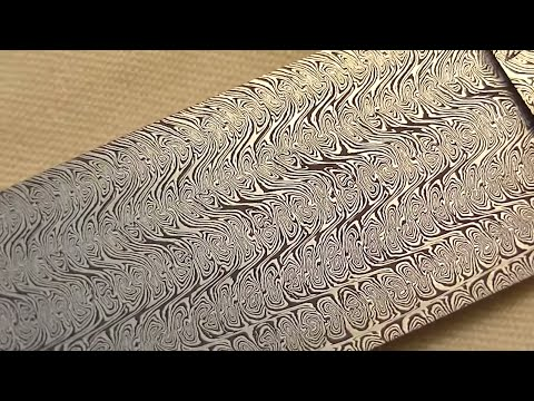 Damascus steel: Making a special twisted multibar blade