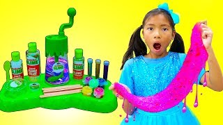 Download Wendy Pretend Play Make DIY Satisfying Nickelodeon Slime Mp3 and Videos