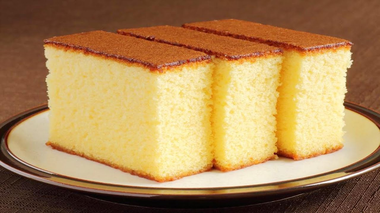 sponge cake without oven basic plain soft sponge cake