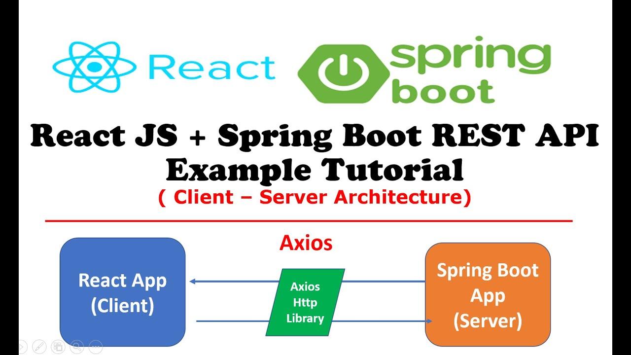 React JS + Spring Boot REST API Example