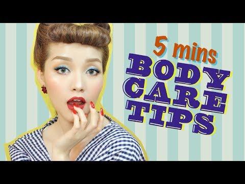 5 MINS BODY CARE TIPS - Dưỡng Da Cơ Thể Trong 5 Phút | Tina'sBeautyTips