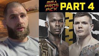 MMA Pros Pick Israel Adesanya vs Marvin Vettori 2 Part 4 UFC 263