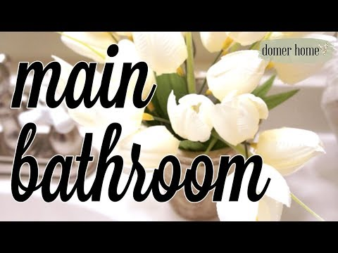 UPSTAIRS MAIN BATHROOM 2018 | DECORATE WITH ME | 5 AFFORDABLE BATHROOM DECORATING TIPS