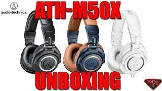 Audio Technica ATH-M50X Studio Headphones Unboxing and Review