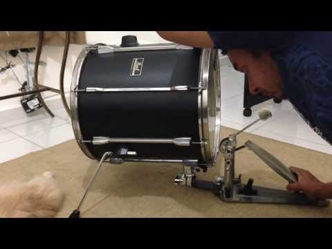 "JG16 Pearl  convertendo Surdo de 16""em Bumbo. Floor tom / bass drum"