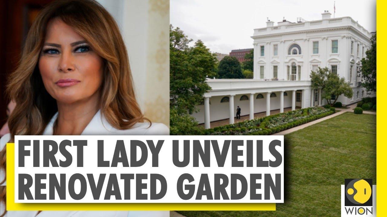 Melania Trump Unveils Newly Renovated White House Rose Garden Youtube