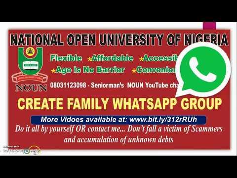 Create Family WhatsApp Group - YouTube