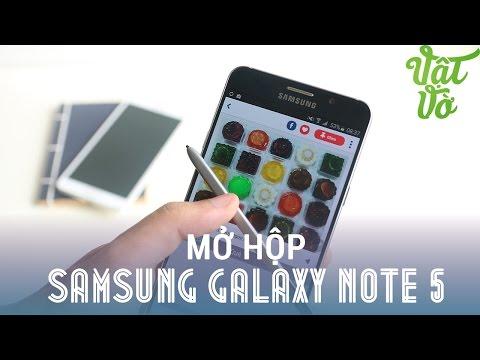 Vật Vờ| Mở hộp Samsung Galaxy Note 5 thương mại màu xanh đen 32GB
