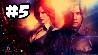 Resident Evil 6 - Gameplay Mini Walkthrough - Part 5 - CITY IN FLAMES!! (Xbox 360/PS3/PC HD)