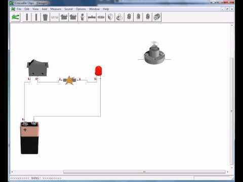 تحميل برنامج Crocodile Clips لعمل تجارب فيزياء كهرباء على الحاسوب