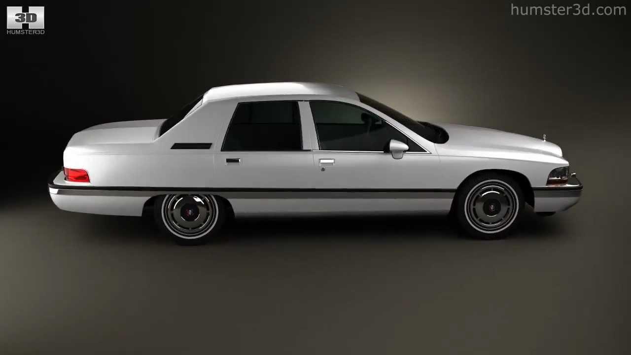 Buick roadmaster sedan 1991 by 3d model store humster3d com