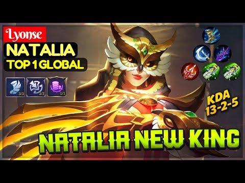 Natalia New King [ Top 1 Global Natalia ] Lyonse Natalia Mobile Legends