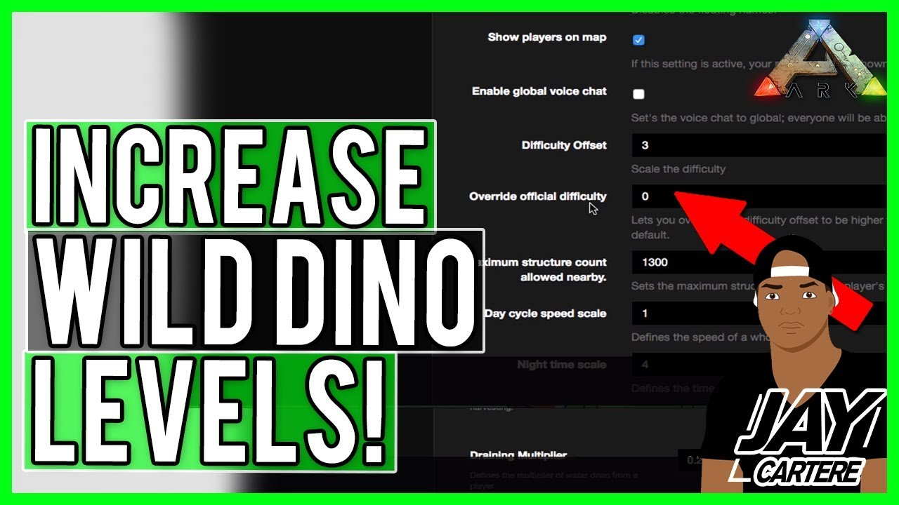 ARK PS4 Server Tips - How To Increase Wild Dino Levels On Your ARK Nitrado  Server