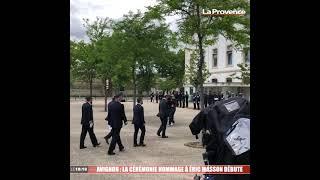Avignon : La cérémonie hommage à Éric Masson débute