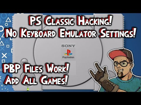 PlayStation Classic Hacking! Add All Games! No Keyboard Settings Access!