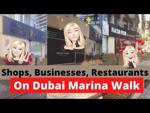 Walking Tour of Dubai Marina Walk for #shorts