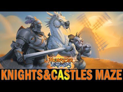 Monster Legends | Knights & Castles Maze | Rocigon | Quixote | Panzus | ROCIGON IS AAAAMAAAZING!
