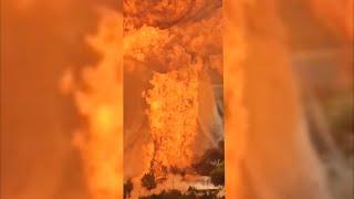 Момент взрыва на АЗС в Волгограде