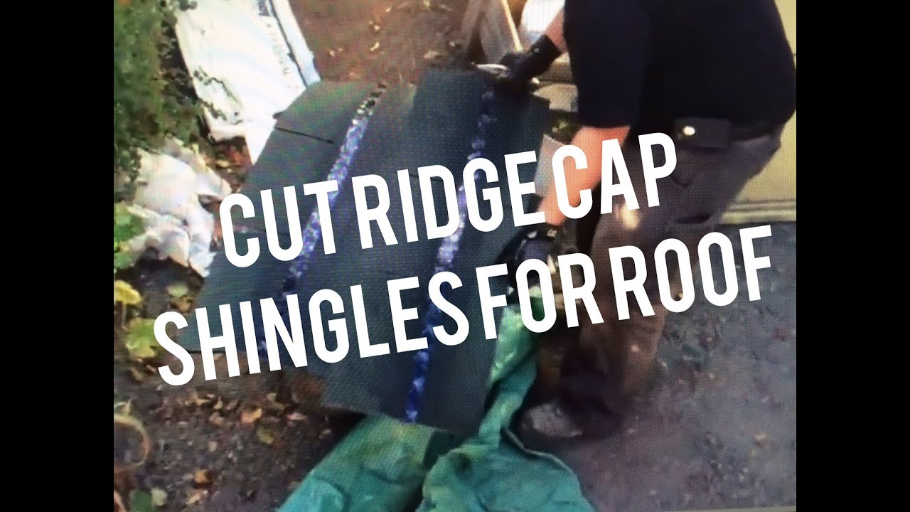 How To Cut Install Ridge Cap Shingles On Roof House Shed