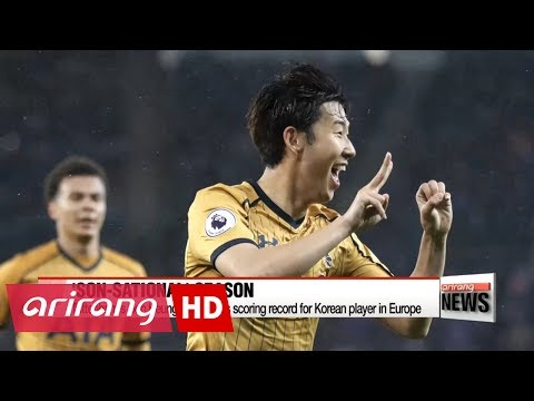 Son Heung-min breaks scoring record for Korean player in Europe