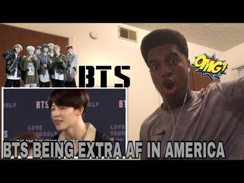 Bts Being Extra Af In America Reaction