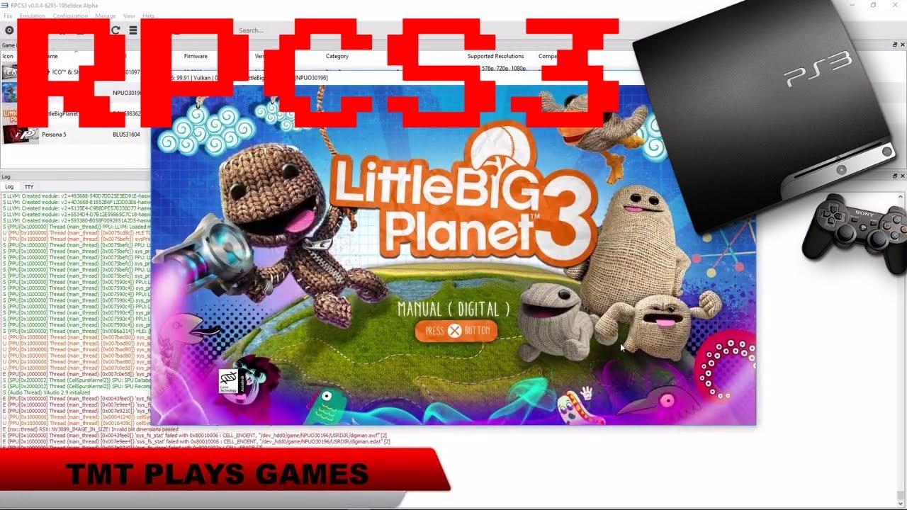 Little Big Planet 3 - RPCS3 TEST
