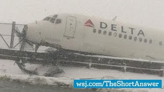 La Guardia Airport Scene of Close Call for Delta