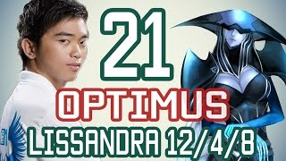OPTIMUS - LISSANDRA vs TWISTED FATE - Cao Thủ Việt