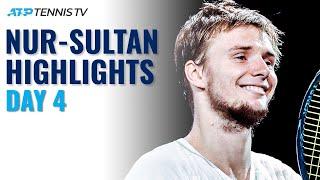 Bublik Battles Kecmanovic; Karatsev & Lajovic Also In Action | Nur-Sultan 2021 Day 4 Highlights