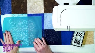 Angela's Tips for Using Quilting Stencils | Midnight Quilt Show Stars Squared Quilt