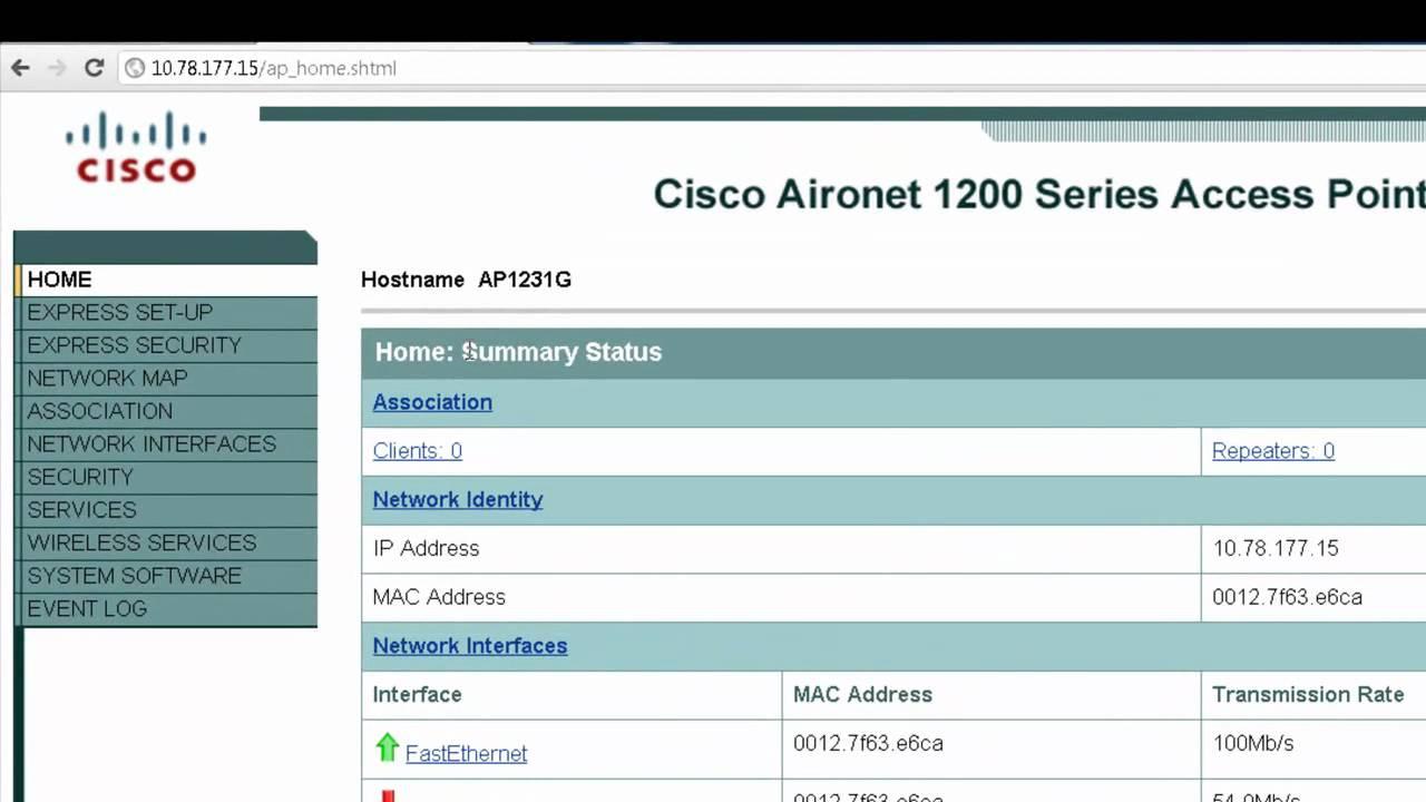 cisco basic wireless lan wlan connection with cisco aironet access rh youtube com cisco aironet 1100 access point configuration cisco aironet 1100 wpa2 configuration