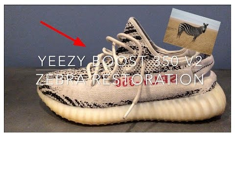 YEEZY'S FOR RETAIL!! Cleaning Yeezy Boost 350 V2 Zebra's
