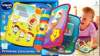 Libro para bebe primeras canciones Vtech Jugueteria Baby Kingdom